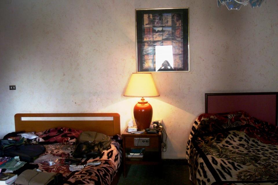 A slightly odd and oddly special hotel room in Amman, Jordan
