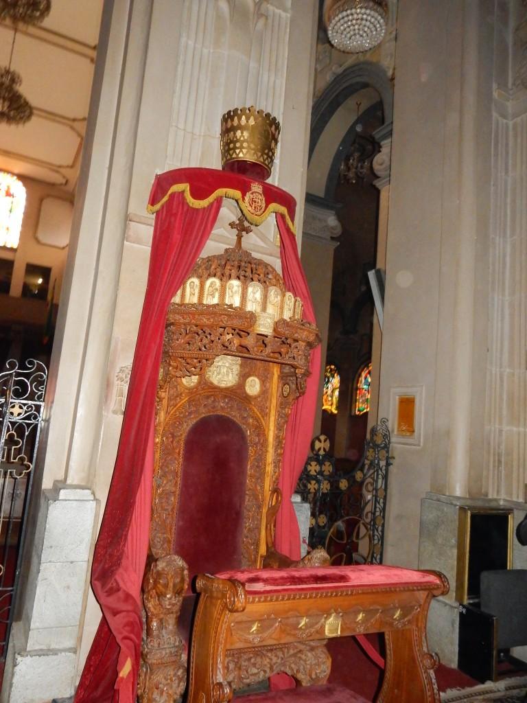 Haile Selassie's throne.