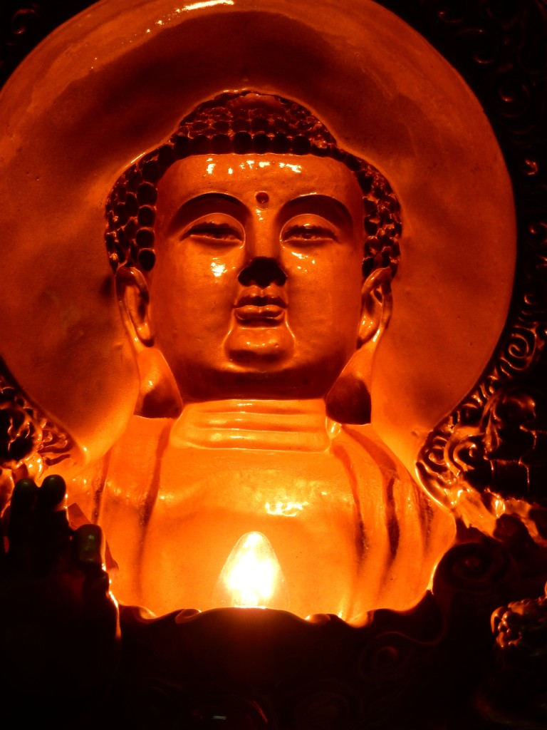 Chinese Buddha. I think. Not grinning. Taking over the world.