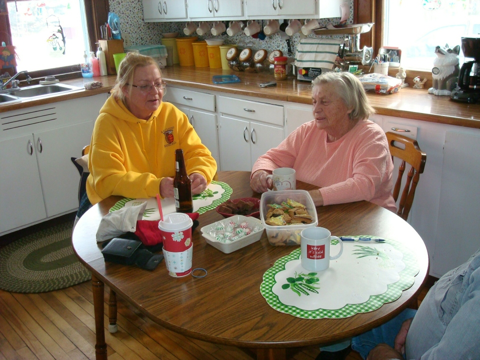 "Barb & Helen. Why the word ""neighbors"" should make you feel all warm and fuzzy."
