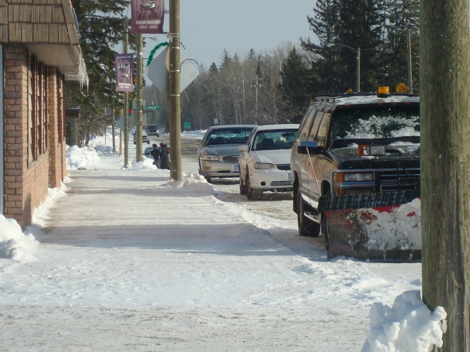 Main Street, My Home Town, Northome MN.