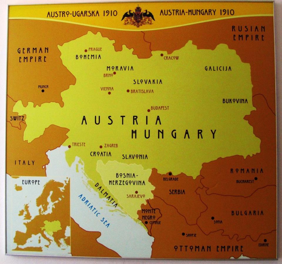 SCENIC SAD BOSNIA-HERZEGOVINA. WHERE THE WW 1 BEGAN.