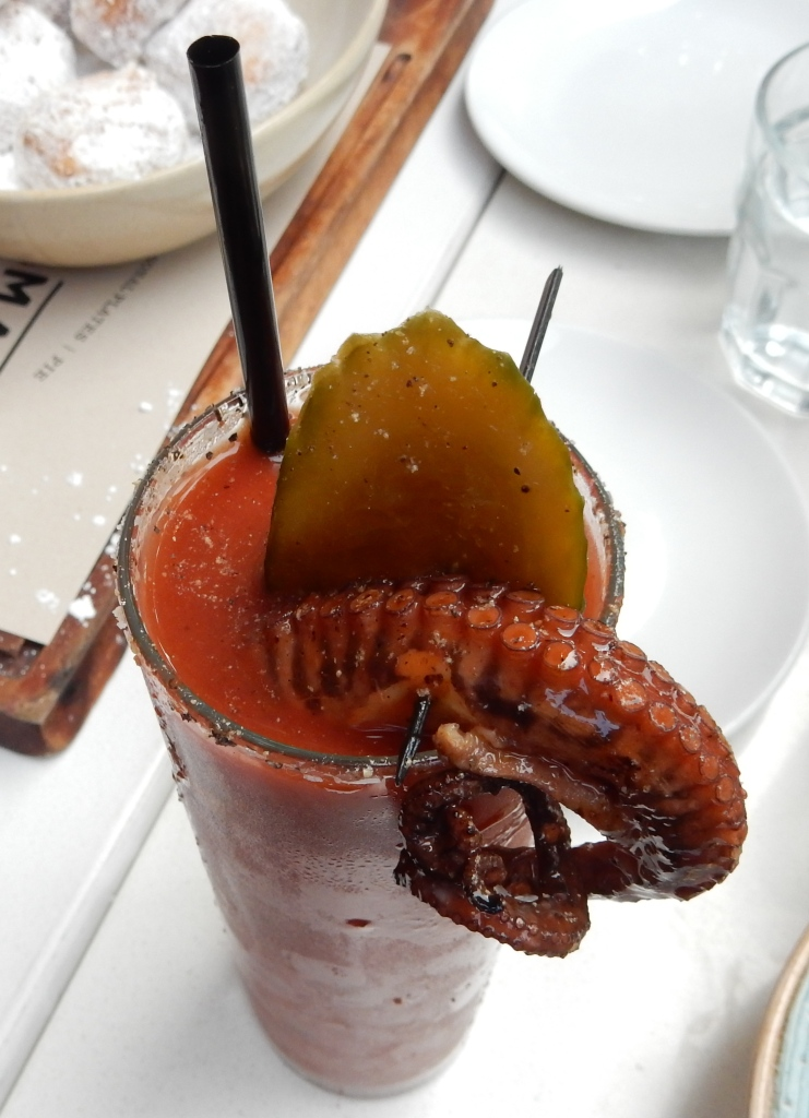 Octopus Bloody Mary or as it's known on the menu: