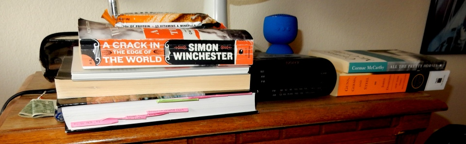 T's bedside table, definitely my DNA in that girl.