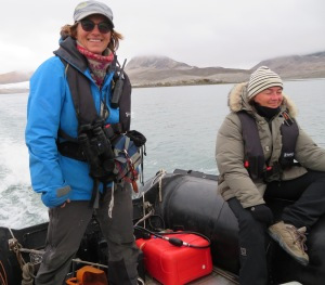 Mette, our fearless leader, and Elodie, plankton explorer.
