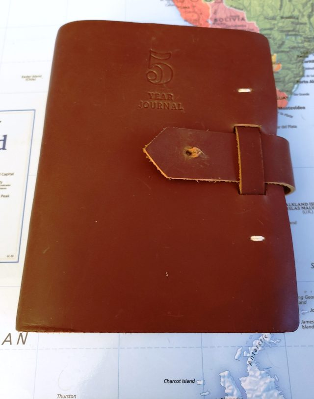 SPECIAL, LEATHER-BOUND, HANDMADE JOURNAL...FOR THOUGHTFUL WORDS ONLY.